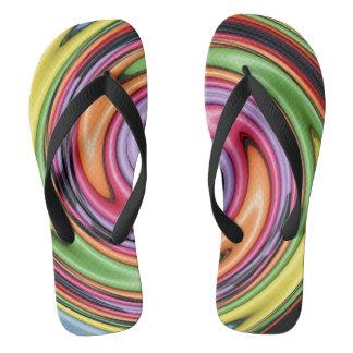 Flips-flopes del remolino del color
