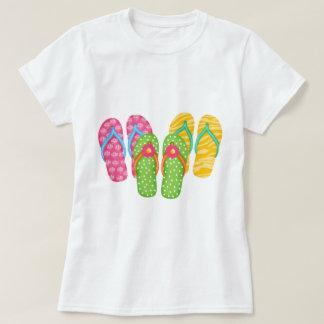 Flips-flopes del verano playera