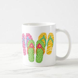 Flips-flopes del verano taza