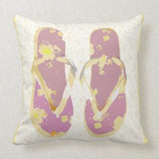 Flips-flopes (el rosa/el amarillo/moteó) almohadas