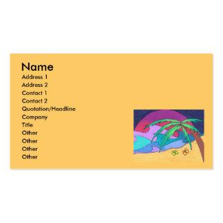 Flips-flopes en las plantillas de las tarjetas de  tarjetas de visita