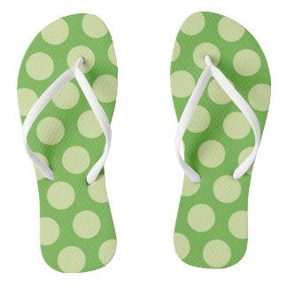Flips-flopes grandes verdes del punto