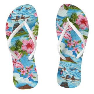 Flips-flopes hawaianos de las escenas
