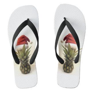 Flips-flopes hawaianos del navidad de la piña