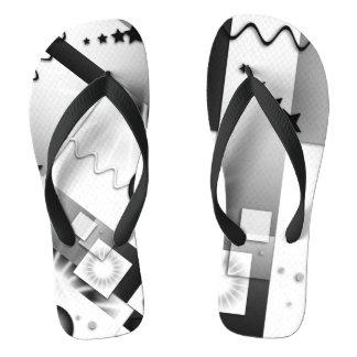 Flips-flopes juguetones del art déco blanco y