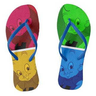 flips-flopes lindos del dibujo animado