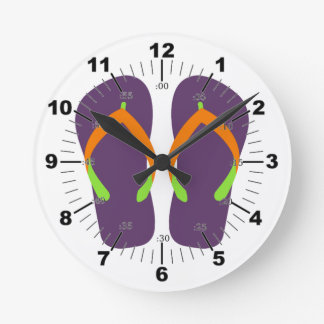 Flips-flopes lindos reloj redondo mediano