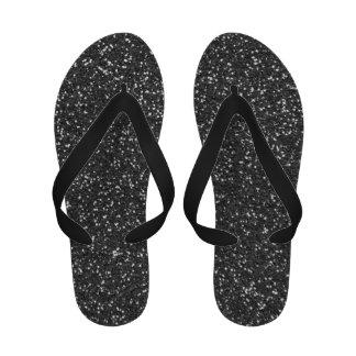 Flips-flopes negros atractivos de las correas del