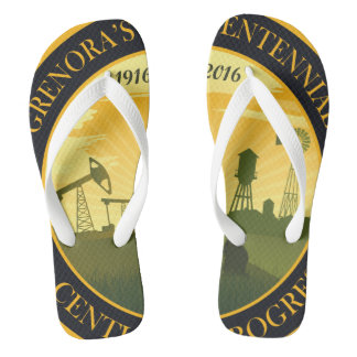 Flips-flopes oficiales centenarios del logotipo de