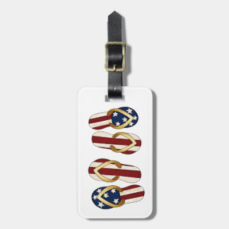 Flips-flopes patrióticos etiquetas para maletas