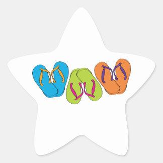 Flips-flopes Colcomanias Forma De Estrellas