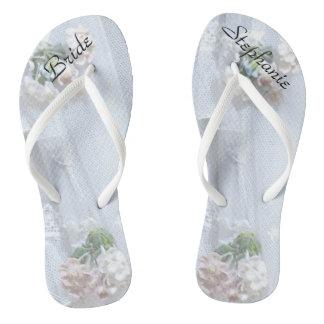 Flips-flopes personalizados boda de la novia del