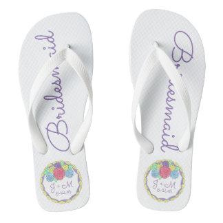 Flips-flopes personalizados de la dama de honor