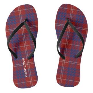 Flips-flopes personalizados tela escocesa de