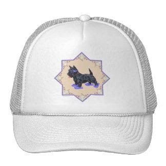 Flips-flopes púrpuras gorras de camionero