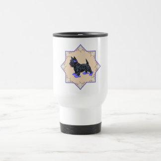 Flips-flopes púrpuras taza de viaje