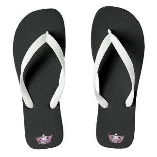 Flips-flopes rosados adultos del blanco de la