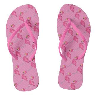 Flips-flopes rosados de los pájaros del pájaro de