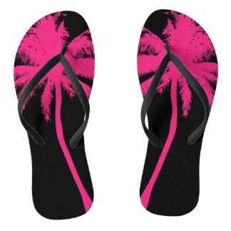 Flips-flopes rosados del árbol de Plam