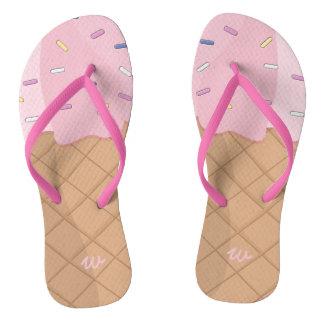 Flips-flopes rosados personalizados del verano del chanclas