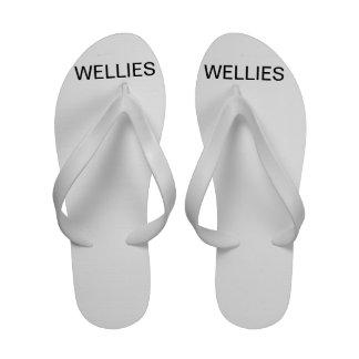 Flips-flopes señalados como Wellies Sandalias