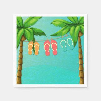 Flips-flopes tropicales servilletas desechables