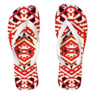 Flips-flopes urbanos rojos 1 del estilo de NU uno