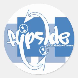 Flipside Brent Logo Blue Sticker