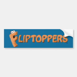 Fliptoppers Bumper Sticker (blue)! Car Bumper Sticker