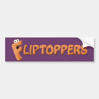 Fliptoppers Bumper Sticker (purple)! Car Bumper Sticker