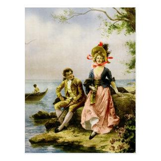 """""""Flirt au Bord de la Mer"""" by Hippolyte Lucas Postcards"""