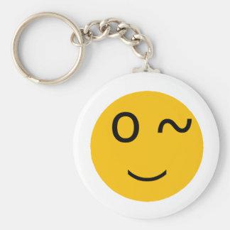 Flirt Basic Round Button Keychain
