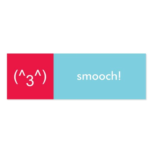 flirt card red blue smooch emoticon text message double