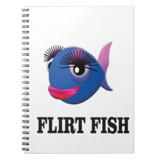 flirt fish spiral notebook