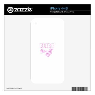 Flirt graphic valentines day tee iPhone 4 skin