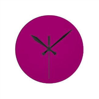 Flirt Purple Background Round Clock