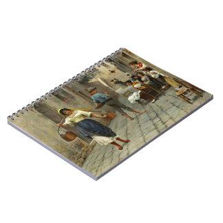 Flirtatious Milkmaid 1890 Spiral Notebook