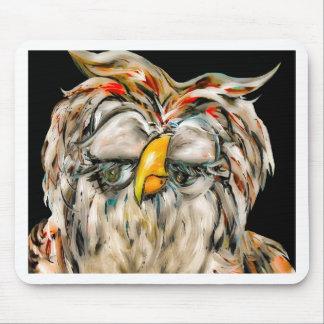 Flirtatious Owl Mouse Pad