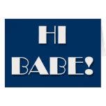 Flirting cards - HI BABE!