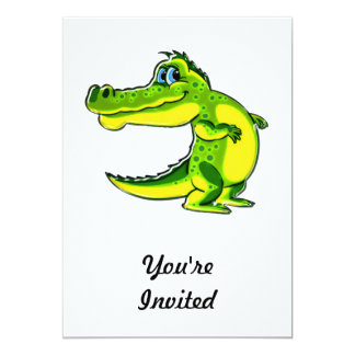 Flirting Crocodile 5x7 Paper Invitation Card