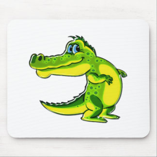 Flirting Crocodile Mouse Pad