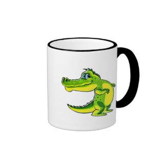 Flirting Crocodile Ringer Coffee Mug