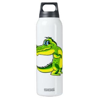 Flirting Crocodile 16 Oz Insulated SIGG Thermos Water Bottle