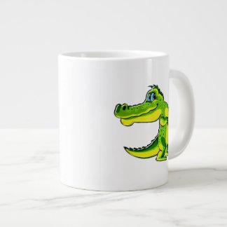 Flirting Crocodile 20 Oz Large Ceramic Coffee Mug