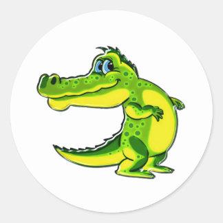 Flirting Crocodile Classic Round Sticker