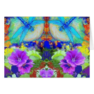 Flirting Dragonflies & Purple Flowers by Sharles
