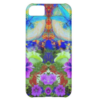 Flirting Dragonflies & Purple Flowers by Sharles iPhone 5C Case