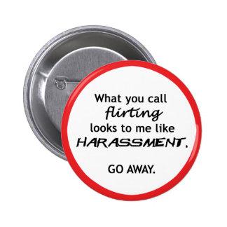 Flirting looks like Harrassment Button