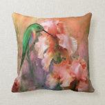 Flirting So Sweetly Iris Hummer Designer Pillow