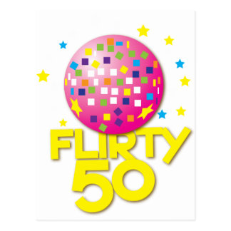 FLIRTY 50 fifty birthday gift present Postcard